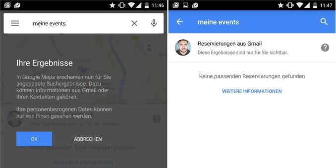 google maps meine events