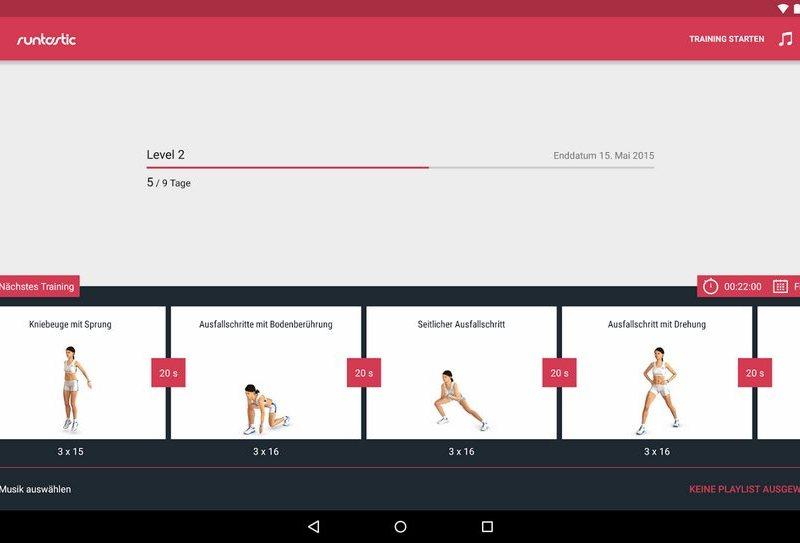 runtastic leg workout
