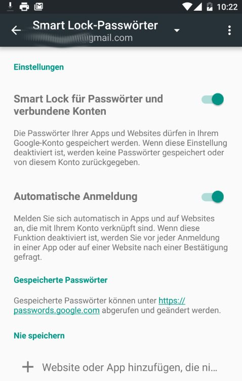 smart lock passwortmanager