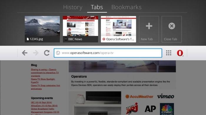 opera tv browser