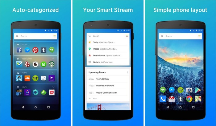 aviate launcher smart stream