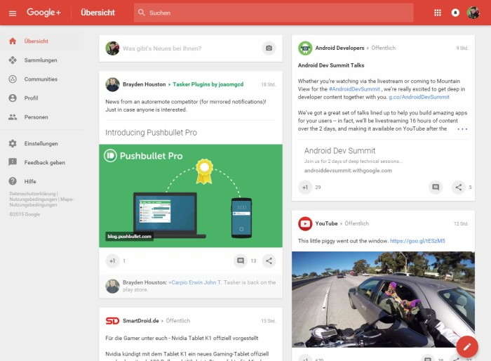 google plus design 2015