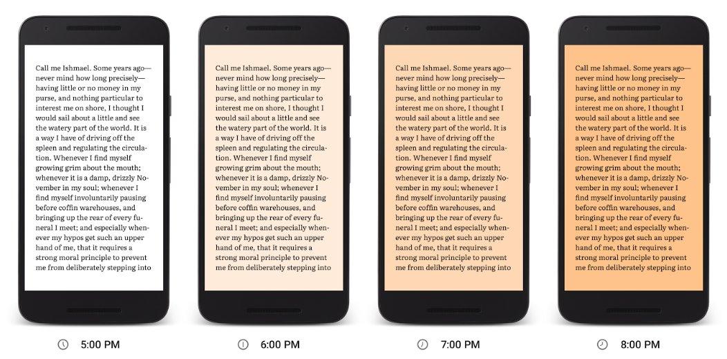 google play books nachtlicht
