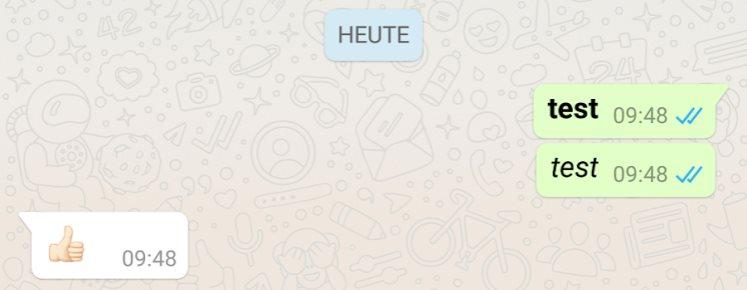 Whatsapp Formatierungen