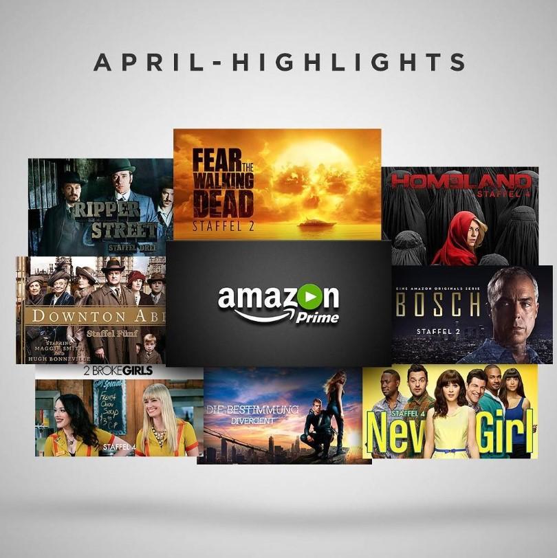 Amazon Prime Instant Video April 2016