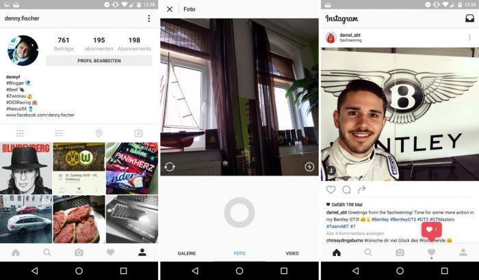 Instagram Android App Design 2016