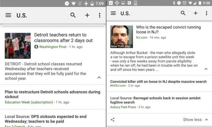 Google News - Box für lokale Nachrichten