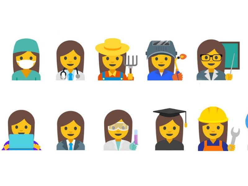 Google Frauen Emojis Mai 2016