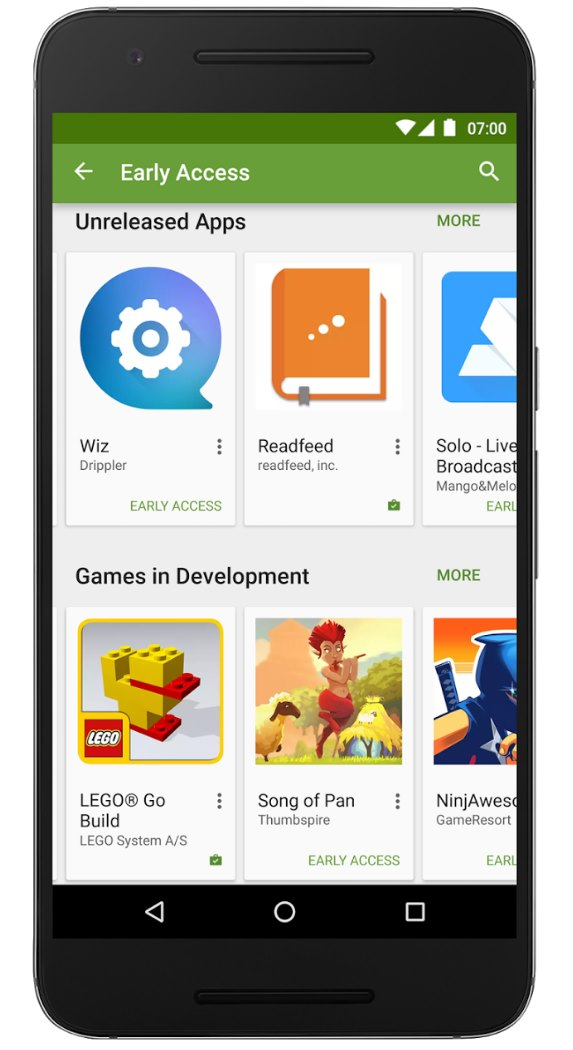 "Google Play ""Early Access"""
