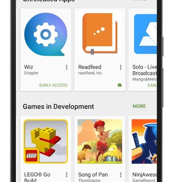 "Google Play ""Early Access"""