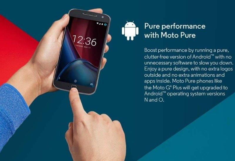 Moto G4 Plus Android N und O Versprechen