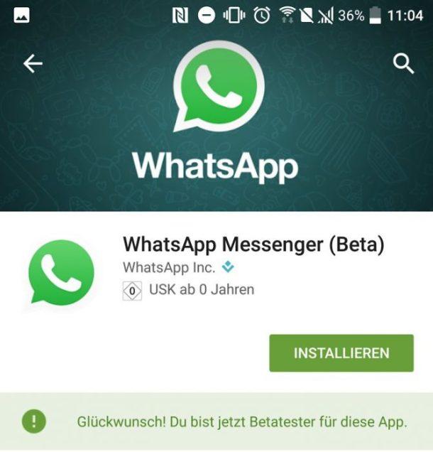 Play Store Beta Anzeige