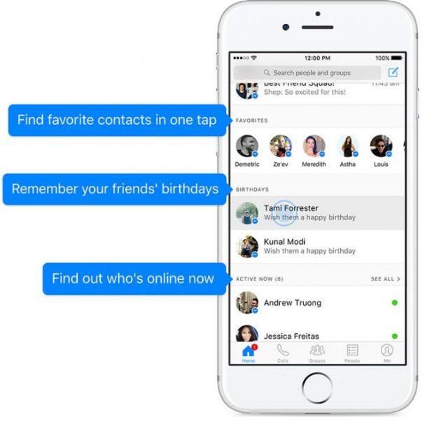 Facebook Messenger Home