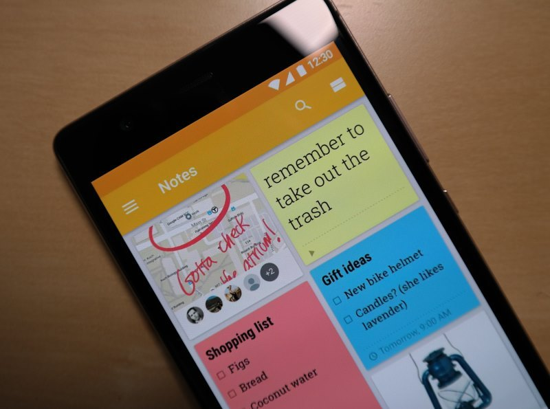 Google Keep Notizen Header