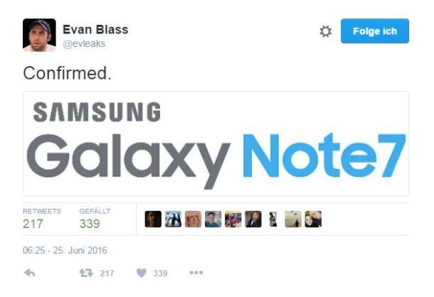 Samsung Galaxy Note 7 Name Leak