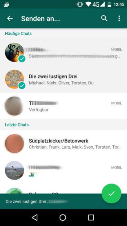 whatsapp august 2016 teilen menü