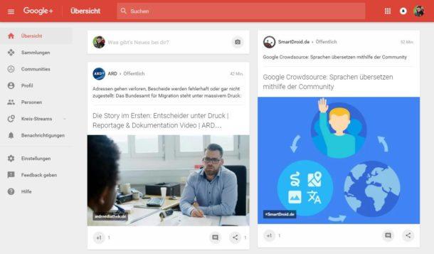 Google Plus Design 2016