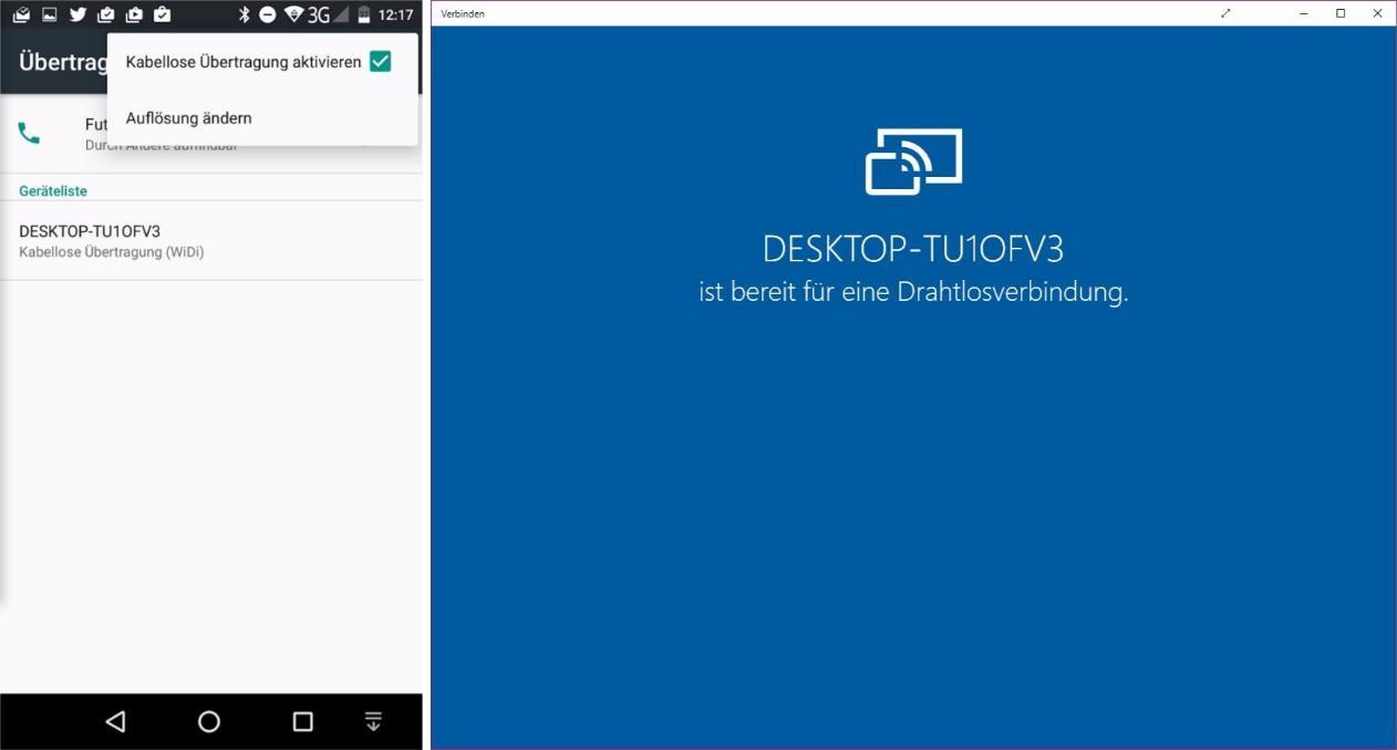 Android Auf Windows 10 Spiegeln