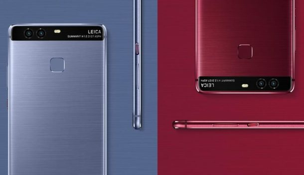 Huawei P9 rot und blau (1)