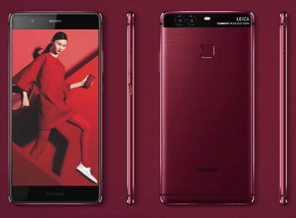 Huawei P9 rot und blau (3)