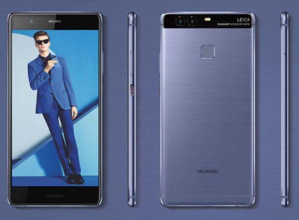 Huawei P9 rot und blau (4)