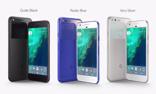Google Pixel Farben