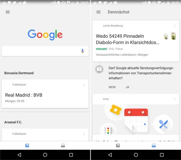Google Feed Update Dez 2016