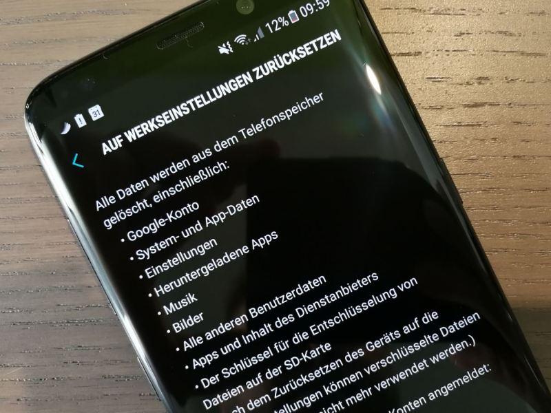 Werkseinstellungen zurücksetzen Android
