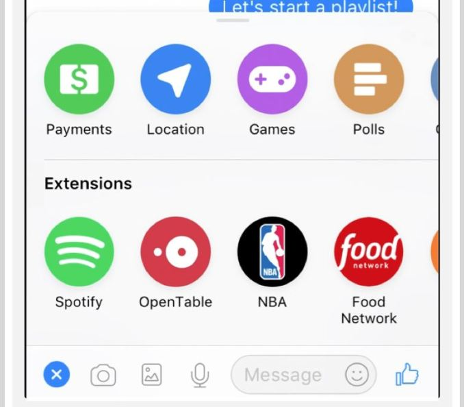 Spotify Facebook Messenger Header