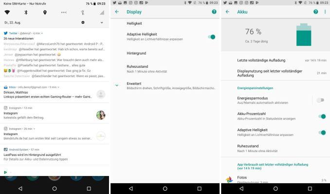 Android 8 Design Systemeinstellungen