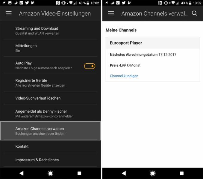 Amazon Channels kündigen App