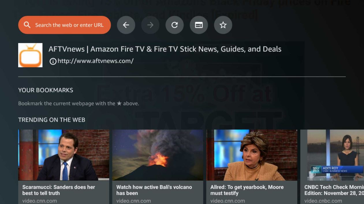 Fire TV Silk Browser