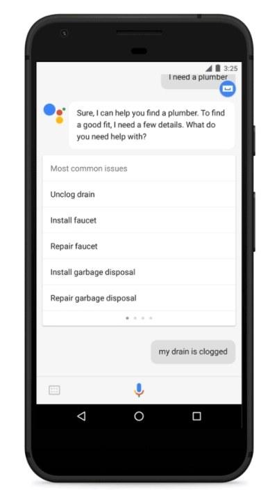 Google Assistant Klempner