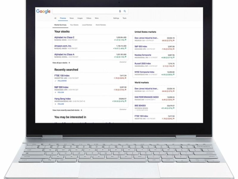 Google Finance Update November 2017