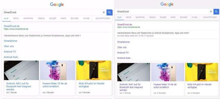 google suche look november 2017 im Verglecih