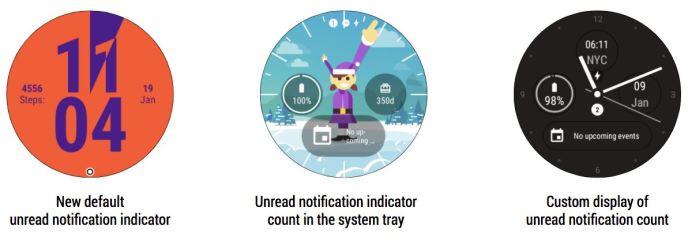 Android Wear 2.9 Indikator für Benachrichtigungen