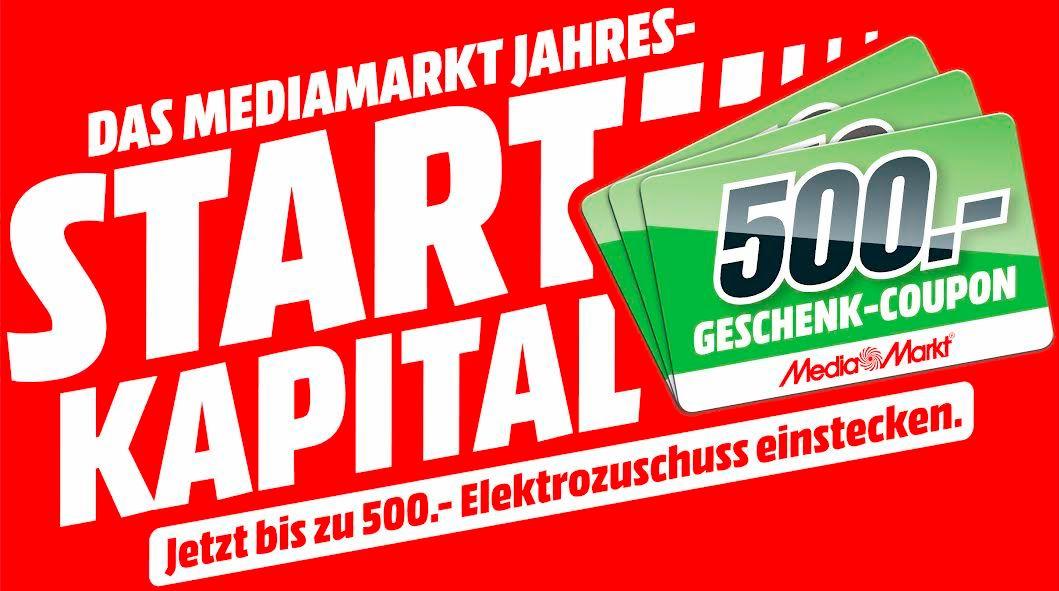 MediaMarkt Geschenk-Coupon-Aktion Januar 2018