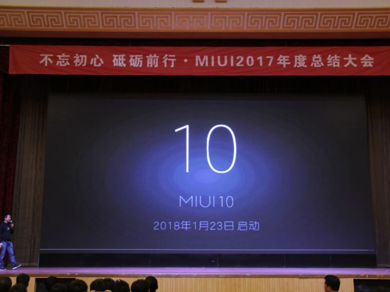 MIUI 10 Ankündigung