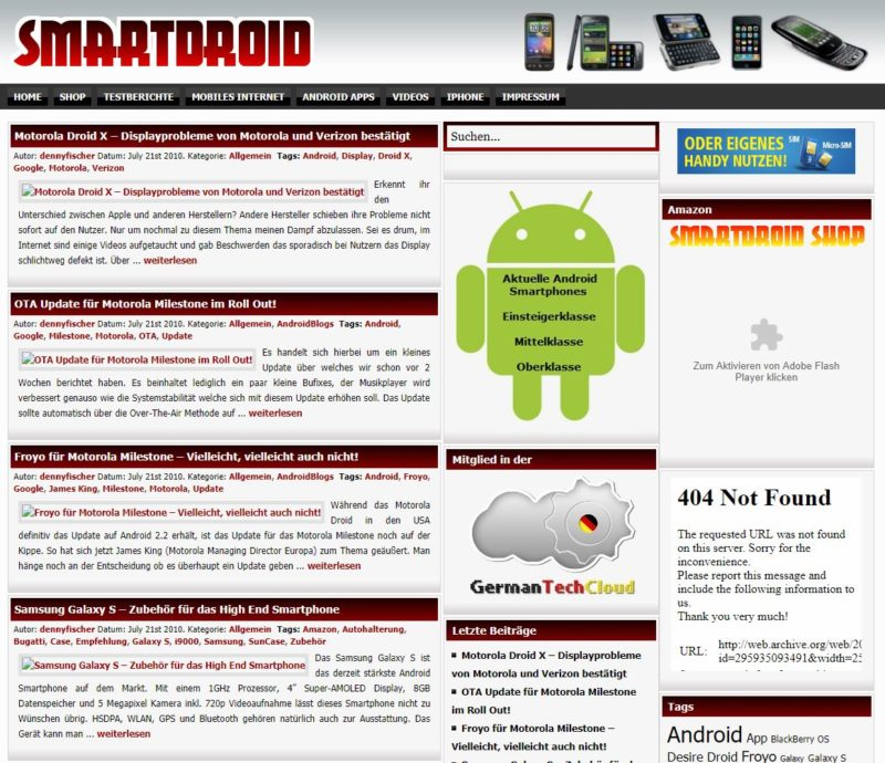 Smartdroid Screenshot 2010