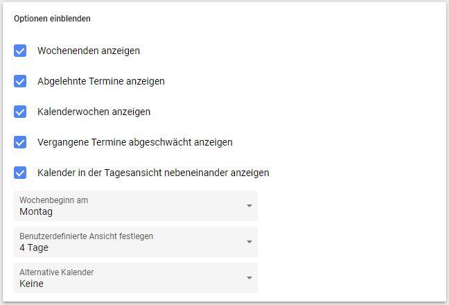Kalenderwoche Google Kalender