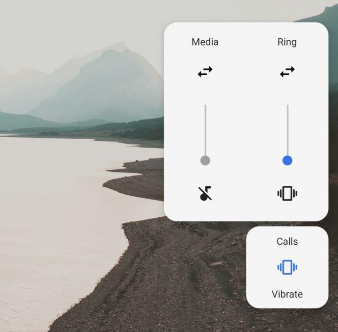 Android P Lautstärke-Slider