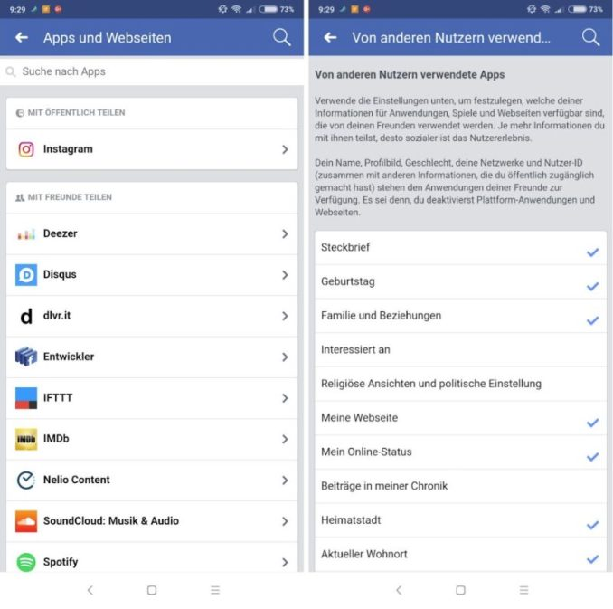 Facebook Zugriff Apps Einstellungen