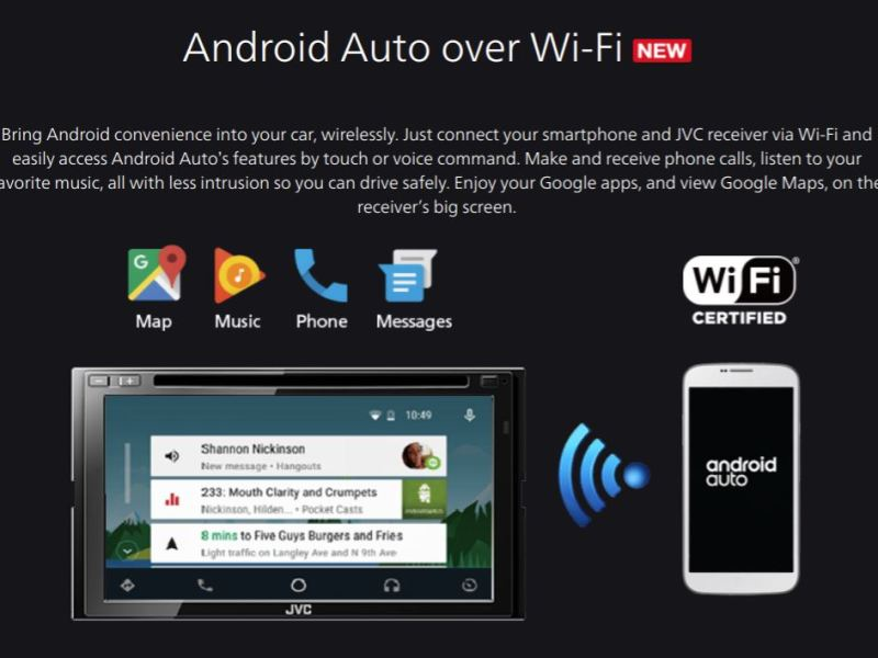 Android Auto WLAN Header