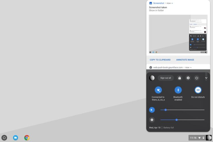 Chrome OS Notification Center and System Tray are getting merged