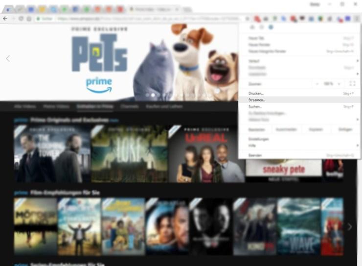 Chromecast Tab Streaming Chrome screenshot