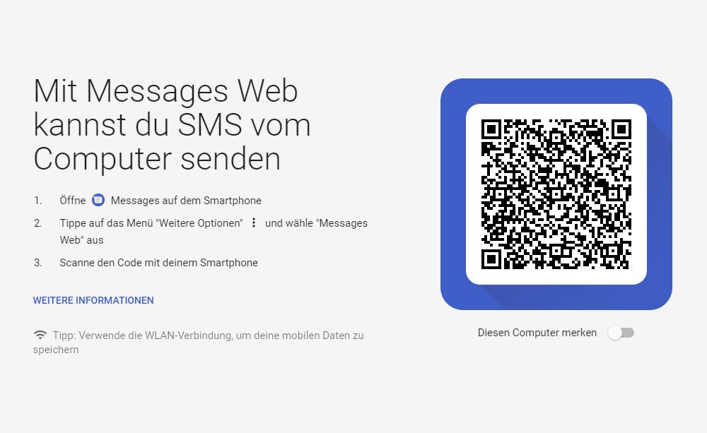 Messages Web Screenshot