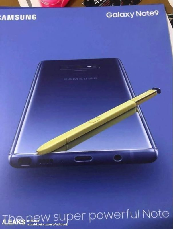Samsung Galaxy Note9 Poster Leak