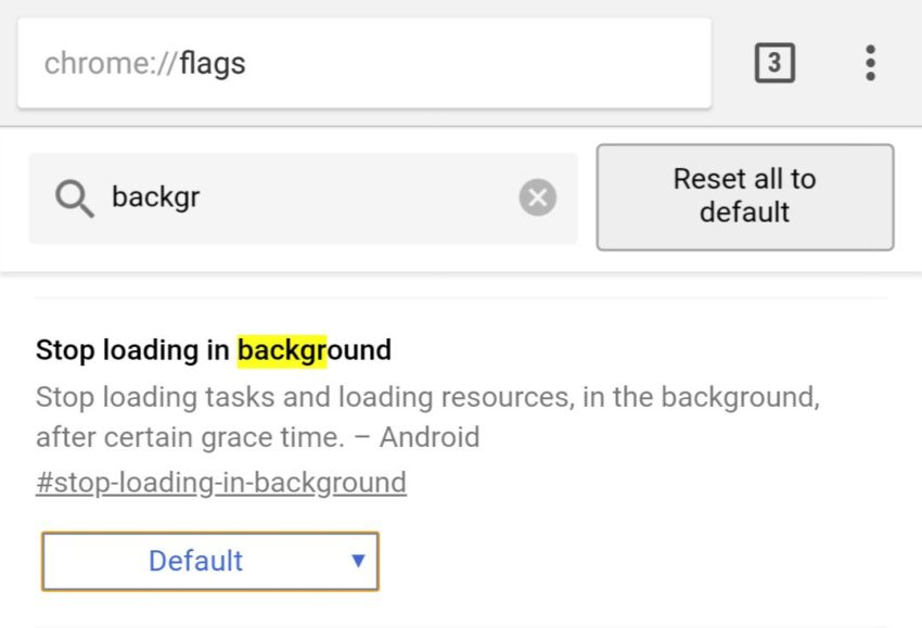 Chrome Background Tab Flag