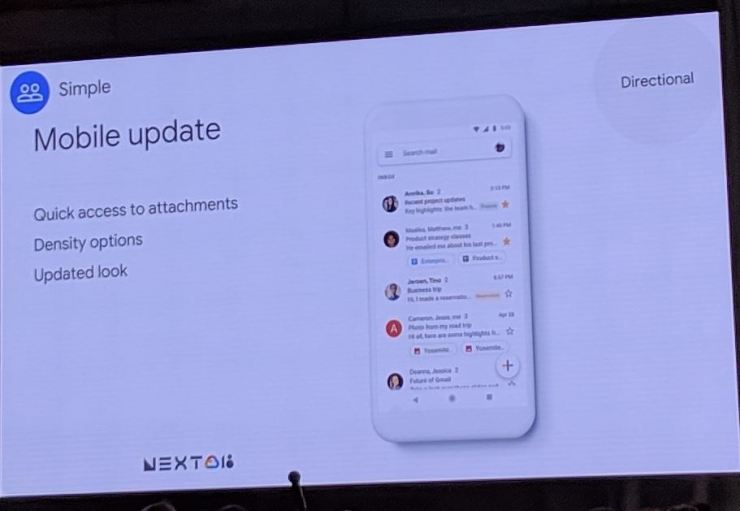 Gmail Update Cloud Next 18