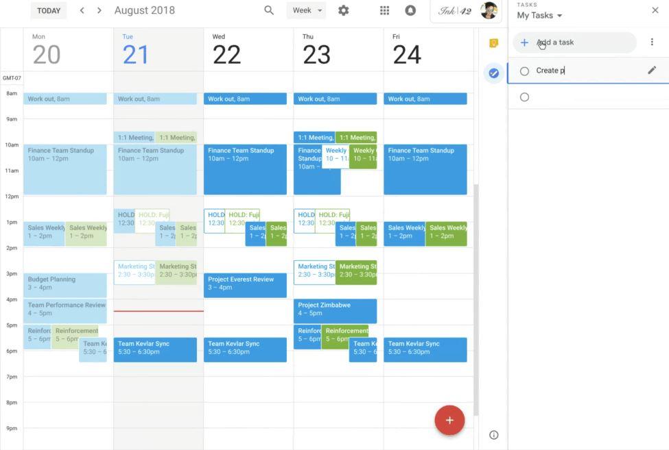 Google Kalender App-Zugriffe Web August 2018